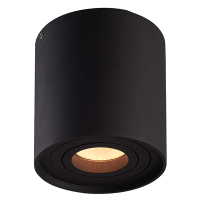 LED Opbouwspot  - Rond - IP20 - Kantelbaar - Dimbaar - Zwart