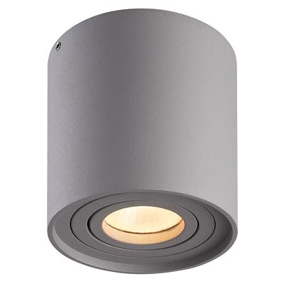 LED Opbouwspot - Rond - Grijs -  Kantelbaar - Dimbaar - IP 20