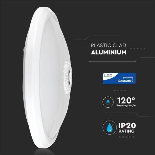 Lightexpert LED Opbouw Plafondlamp Wit - 12W  - 6400K - 800 Lumen Bewegingssensor