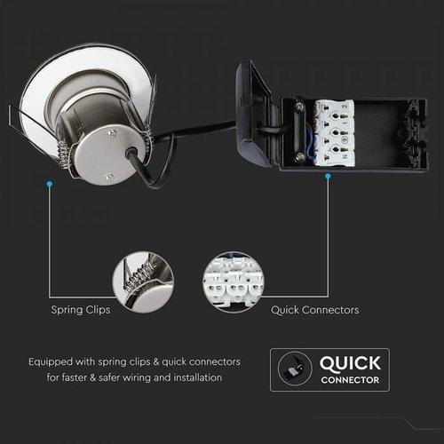 Samsung LED Inbouwspots Samsung RVS 5W – IP65 – 6400K - Geïntegreerd LED - 3 Pack