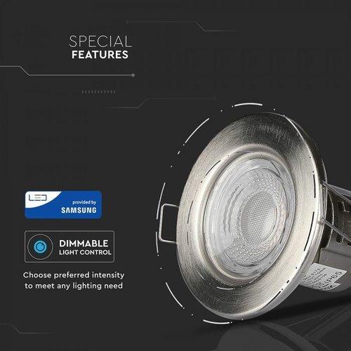 Samsung LED Inbouwspots Samsung RVS 5W – IP65 – 6400K - Geïntegreerd LED - 6 Pack