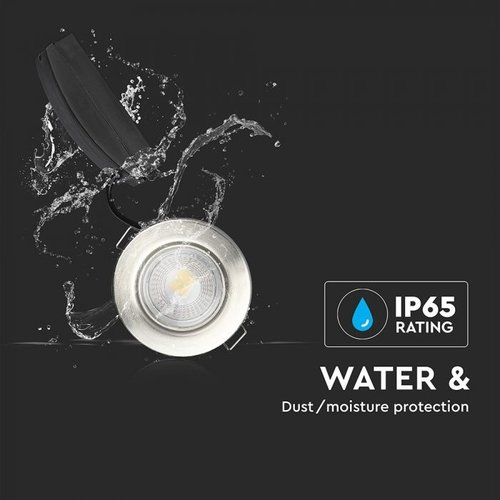 Samsung LED Inbouwspots Samsung RVS 5W – IP65 – 3000K - Geïntegreerd LED - 3 Pack
