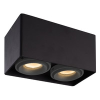Lightexpert.nl LED Opbouwspot - IP20 - Kantelbaar & Dimbaar - Zwart - Inclusief 2 Grijze Afdekringen