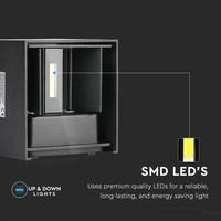 Lightexpert Dimbare LED Wandlamp Buiten Wit - Tweezijdig - 3000K -  6W - IP54
