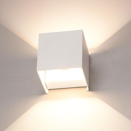 Lightexpert.nl Dimbare LED Wandlamp Buiten Wit - Tweezijdig - 3000K -  6W - IP54
