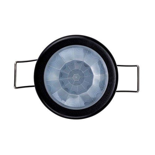 Lightexpert.nl Zwarte Inbouw Bewegingssensor 360° Met Schemerschakelaar 8M Bereik