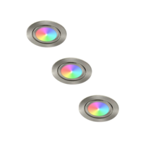 Lightexpert LED Inbouwspots - Lublin - Smart WiFi - Dimbaar - RGBWW - 3 Pack