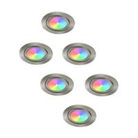 Philips LED Inbouwspots - Lublin - Smart WiFi - Dimbaar - RGBWW - 6 Pack