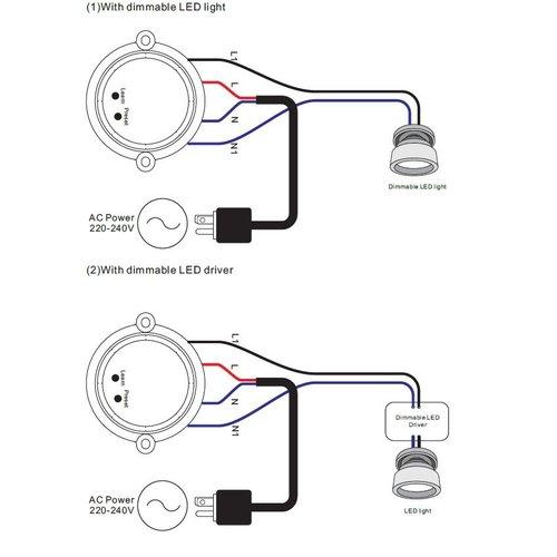 Lightexpert.nl Draadloze LED Ontvanger maximaal 100 Watt vermogen