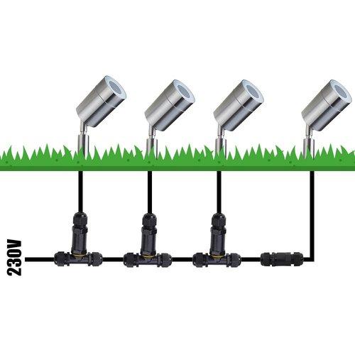 Lightexpert Smart WiFi LED Prikspot – IP44 - GU10 Fitting - RVS