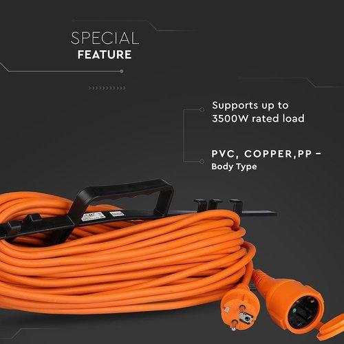 Verlengsnoer voor Buiten - incl. Oprolhaspel – 30 Meter – IP44