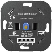 Lightexpert LED Dimmer 5-300 Watt 220-240V - Fase Aan & Afsnijding