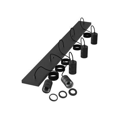 Calex Multi Cord Plafondlamp - 5x E27 - Zwart