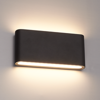 Lightexpert Dimbare LED Wandlamp  Buiten Dallas M Zwart 3000K - 12W – IP54