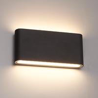 Lightexpert.nl Dimbare LED Wandlamp  Buiten Dallas M Zwart 3000K - 12W – IP54