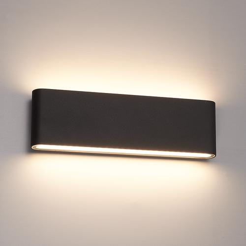 Lightexpert.nl Dimbare LED Wandlamp Buiten Dallas XL Zwart 3000K - 24W - IP54