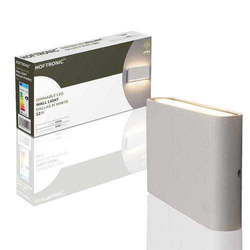 Lightexpert.nl Dimbare LED Wandlamp Buiten Dallas M Wit 3000K - 12W – IP54