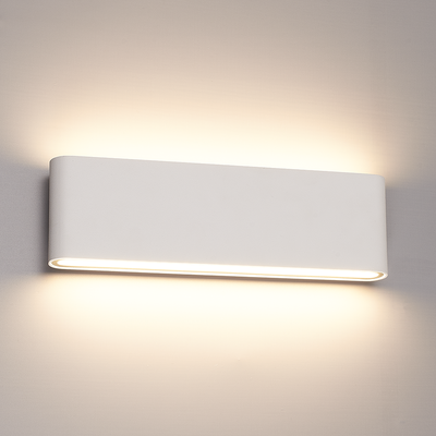 Dimbare LED Wandlamp Buiten Dallas XL Wit 3000K - 24W - IP54