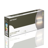 Lightexpert Dimbare LED Wandlamp Buiten Dallas XL Wit 3000K - 24W - IP54