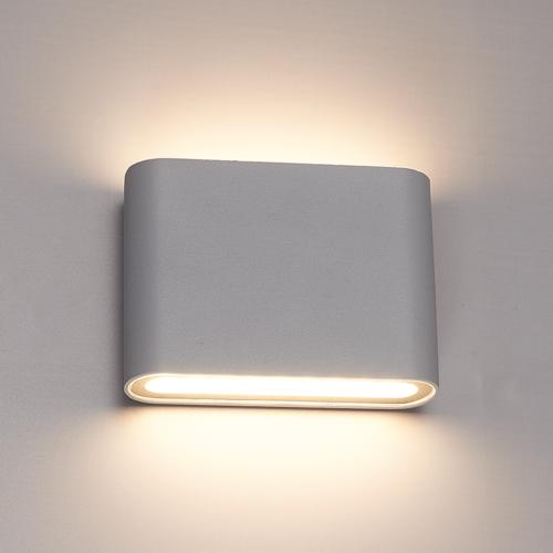 Lightexpert.nl Dimbare LED Wandlamp Buiten Dallas S Grijs - 3000K - 6W - IP54