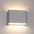 Dimbare LED Wandlamp Buiten Dallas S Grijs - 3000K - 6W - IP54