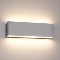 Lightexpert Dimbare LED Wandlamp Buiten Dallas XL Grijs 3000K - 24W - IP54