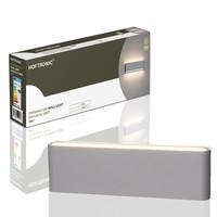 Lightexpert.nl Dimbare LED Wandlamp Buiten Dallas XL Grijs 3000K - 24W - IP54