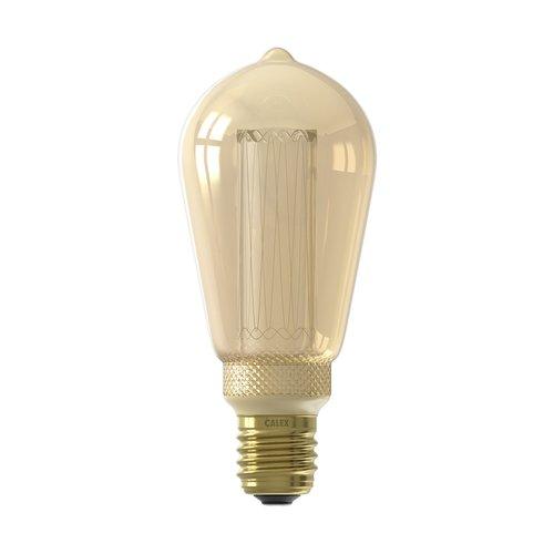 Calex Calex Rustiek LED Lamp - E27 - 100 Lm - Gold