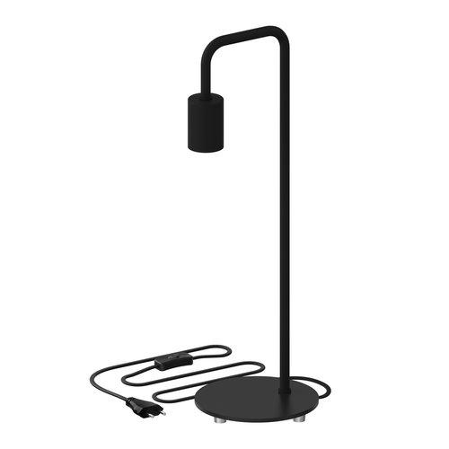 Lightexpert Calex Vloerlamp E27 - Zwart - 155 CM