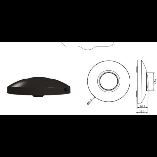 Lightexpert.nl LED Vloerdimmer Zwart 0-50 Watt 220-240V - Fase Afsnijding