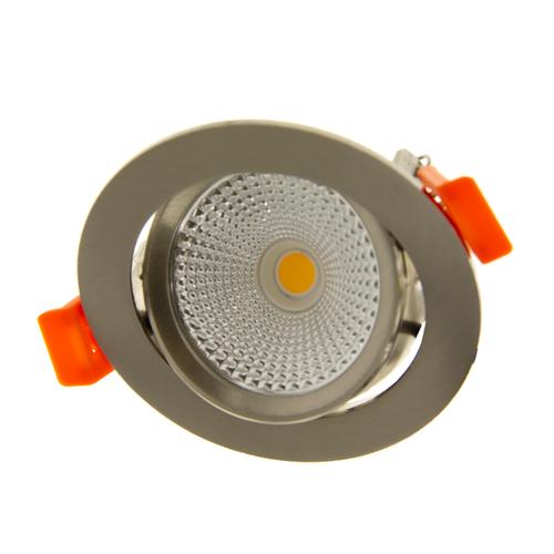 Lightexpert LED Inbouwspots RVS - 6W – IP44 – 2700K - Kantelbaar