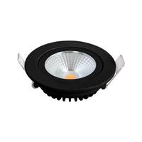 Lightexpert LED Inbouwspots Zwart - 5W – IP44 – 2700K - Kantelbaar
