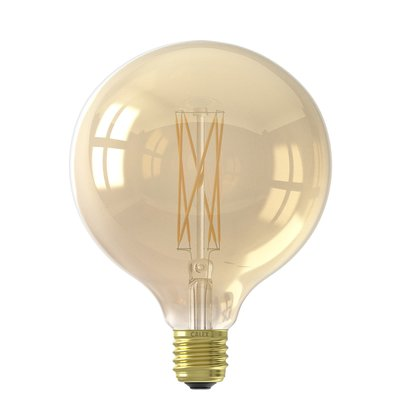 Calex Globe LED Lamp Warm Ø125 - E27 - 320 Lm - Goud / Clear