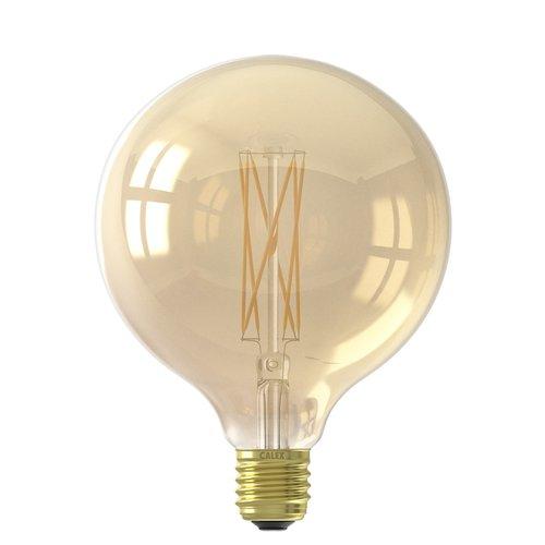 Calex Calex Globe LED Lamp Warm Ø125 - E27 - 320 Lm - Goud / Clear