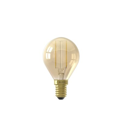 Calex Spherical LED Lamp Warm - E14 - 130 Lm - Goud Finish