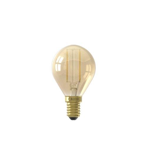 Calex Calex Spherical LED Lamp Warm - E14 - 130 Lm - Goud Finish