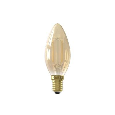 Calex candle LED Lamp Ø35 - E14 - 130 Lm - Goud Finish