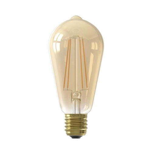 Calex Calex Rustic LED Lamp Warm - E27 - 430 Lm - Goud