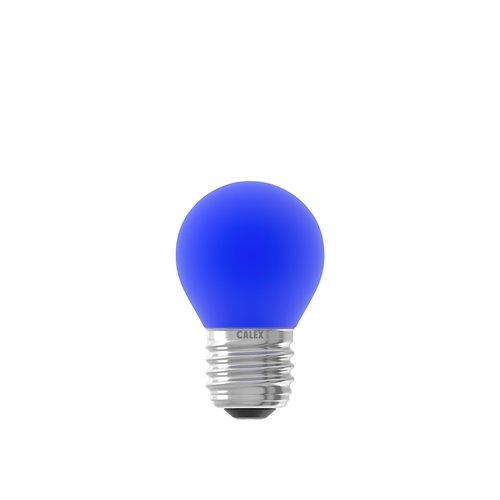 Calex Gekleurde LED kogellamp - Blauw - E27 - 1W - 240V