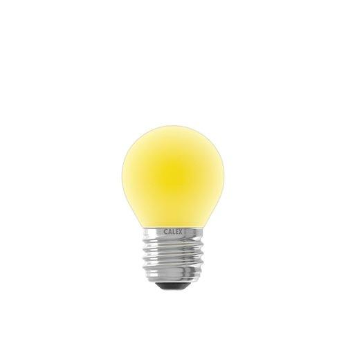 Calex Gekleurde LED kogellamp - Geel - E27 - 1W - 240V