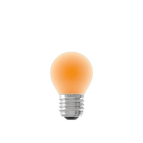 Calex Gekleurde LED kogellamp - Oranje - E27 - 1W - 240V