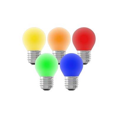 Gekleurde LED kogellamp - 5-pack - E27 - 1W - 240V
