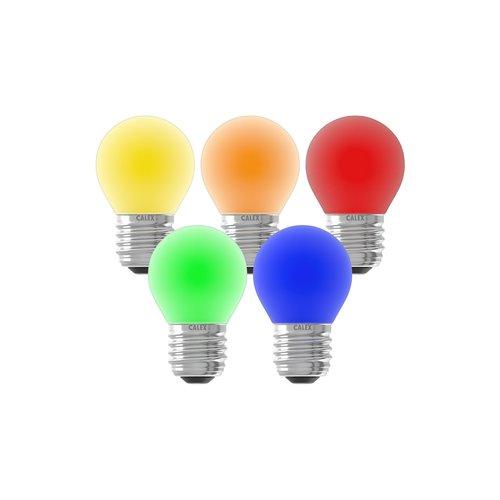 Calex Gekleurde LED kogellamp - 5-pack - E27 - 1W - 240V