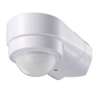 Lightexpert PIR Witte Opbouw Bewegingssensor 240° Met Schemerschakelaar 10M Bereik - IP65