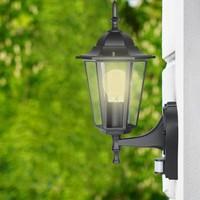 Lightexpert.nl Buitenlamp Met Sensor - Zwart Klassiek - E27