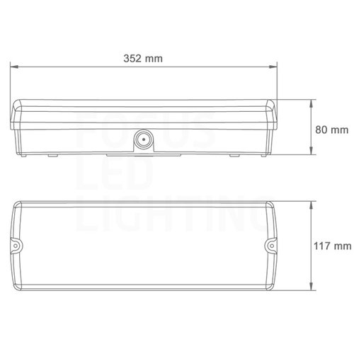 Lightexpert LED Noodverlichting Opbouw - incl. accu en testknop - IP65 - 4W