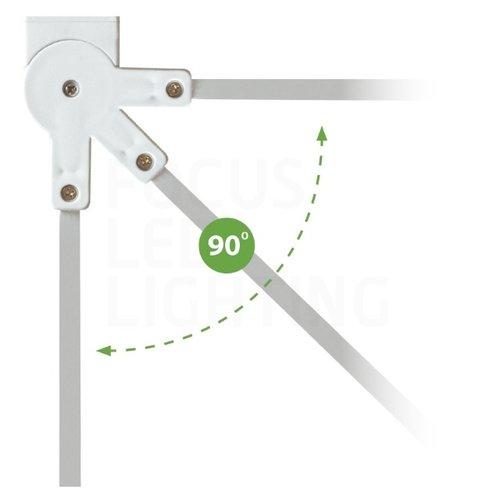 Lightexpert LED Noodverlichting Opbouw - Kantelbaar - inclusief testknop IP20 – 2W