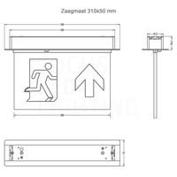 Lightexpert LED NoodverlichtingInbouw -inclusief testknop - IP20 – 2W