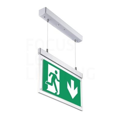 LED Noodverlichting Opbouw - Pendant - incl. testknop IP20 – 2W