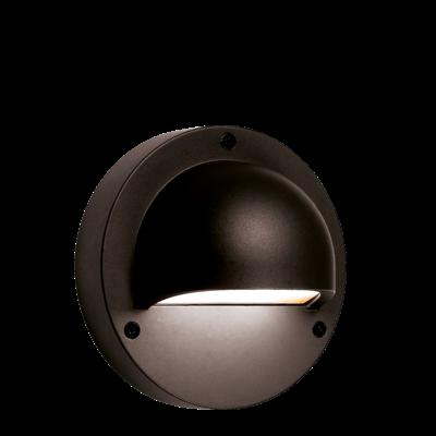 Wandlamp Buiten LED - Deimos Zwart- 12V - 1W